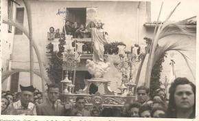 Procesión del Encuentro Domingo de Pascua Plaza de Benimaclet año 1948
