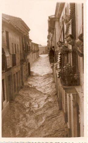 Riada del 14-10-1957 Vista desde la Calle de la Asunción (1)